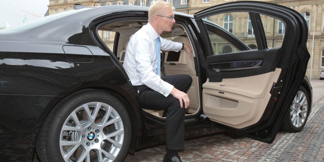 BMW 7er, Fondtür, Einstieg, Ausstieg