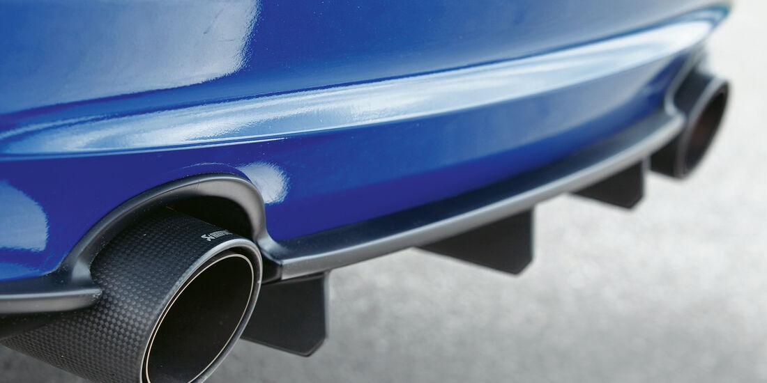 BMW Alpina B3 GT3, Auspuff