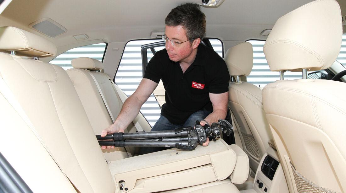 BMW Dreier Touring, Rücksitz, Armlehne