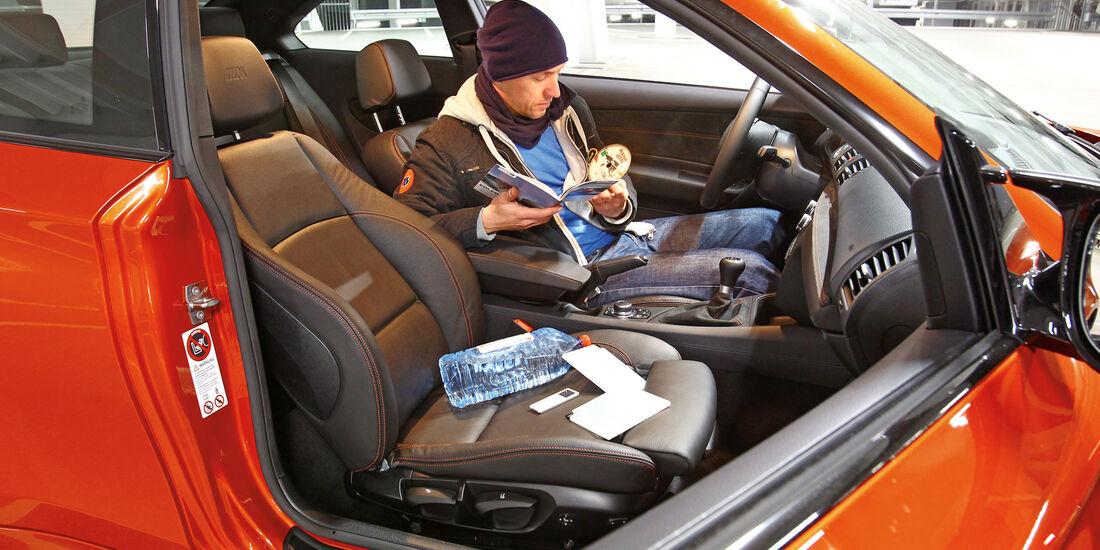 BMW Einser M Coupé, Fahrersitz, Dani Heyne