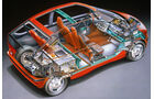 BMW Elektroautos, Ökoautos, BMW E1, Durchsicht, technische Zeichnung