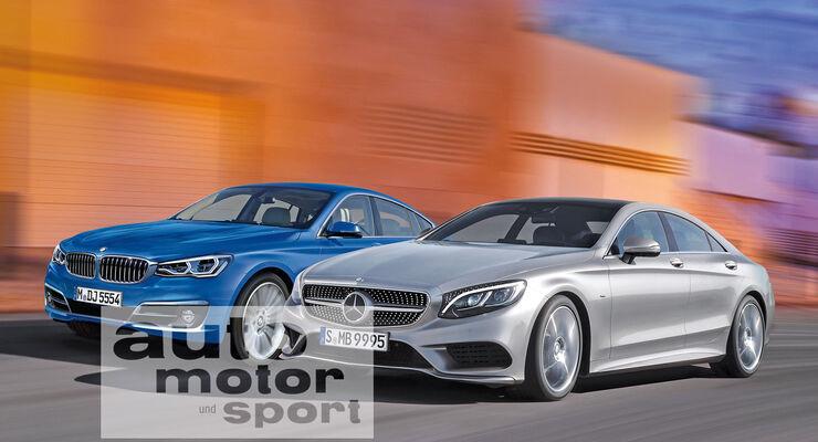 BMW Fünfer GT, Mercedes CLS