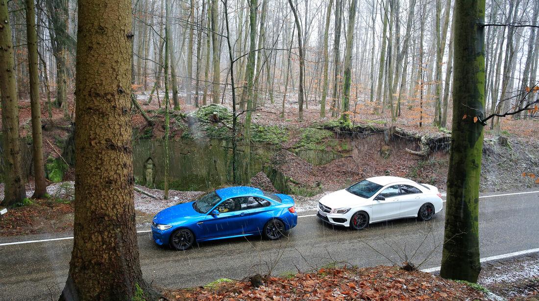 BMW M2, Mercedes-AMG CLA 45, Seitenansicht