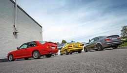BMW M3 E30, E36, E46, Heckansicht