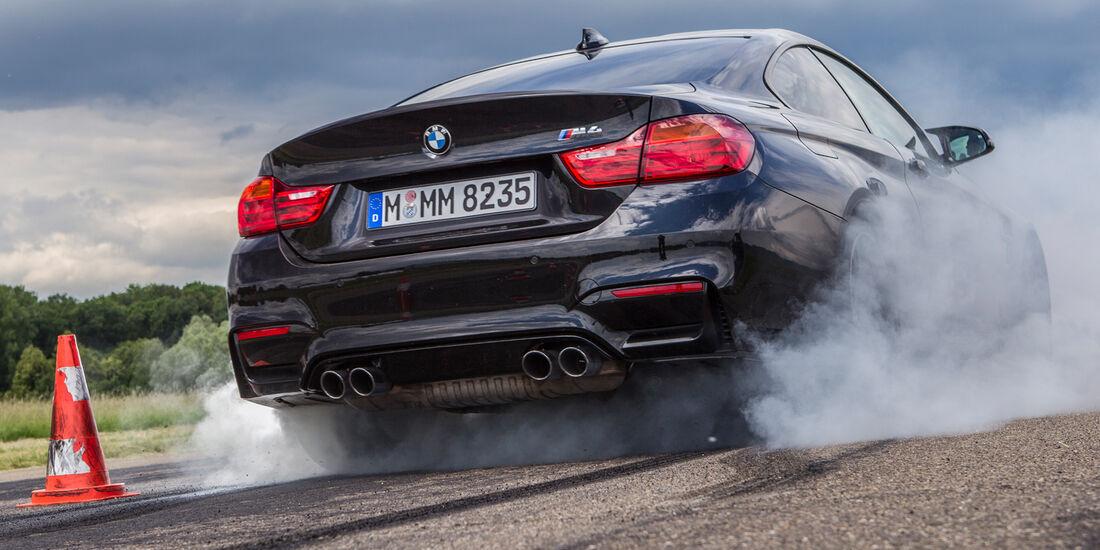 BMW M4, Burnout, Start