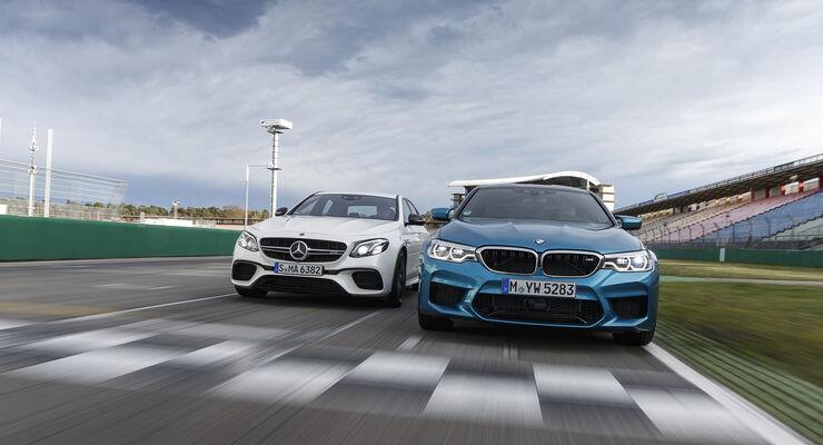 Bmw M5 Und Mercedes Amg E 63s 4matic Im Test Auto Motor Und Sport