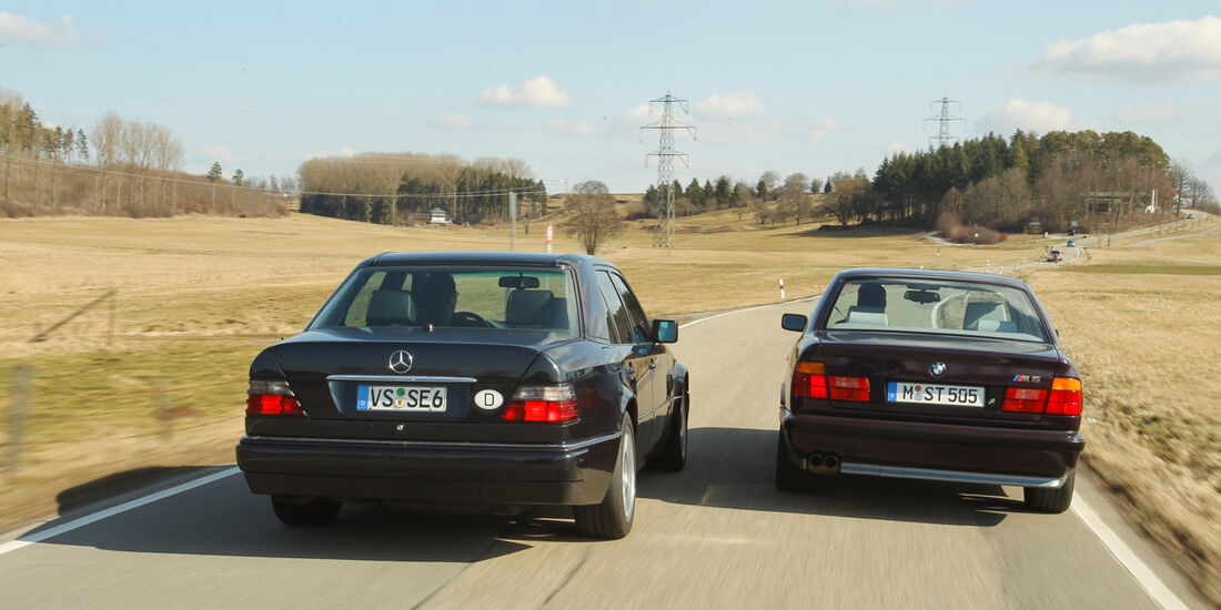 BMW M5, Mercedes-Benz E 500, Heck