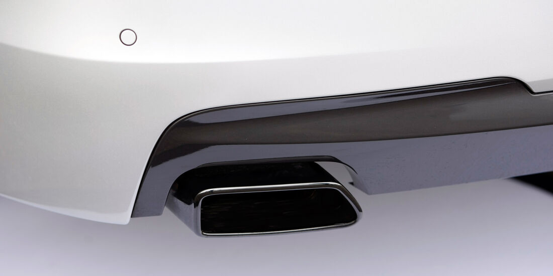 BMW M550d xDrive, Auspuff