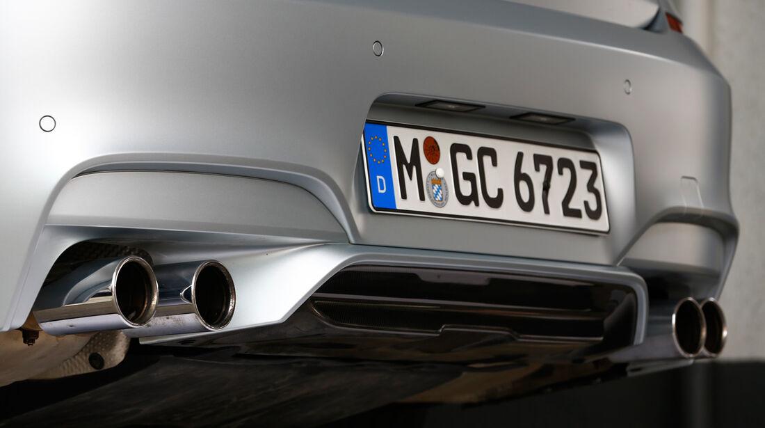 BMW M6 Gran Coupé, Auspuff, Endrohr