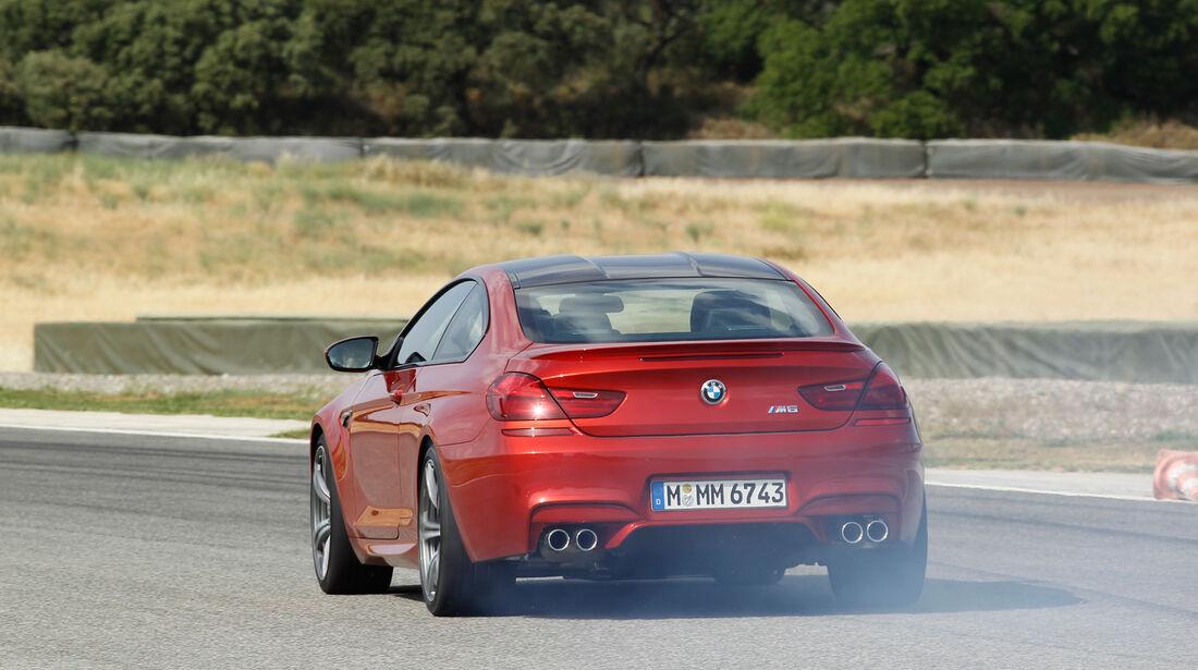 BMW M6, Heckansicht, Burnout