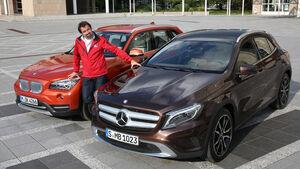 BMW X1, Mercedes GLA, Draufsicht