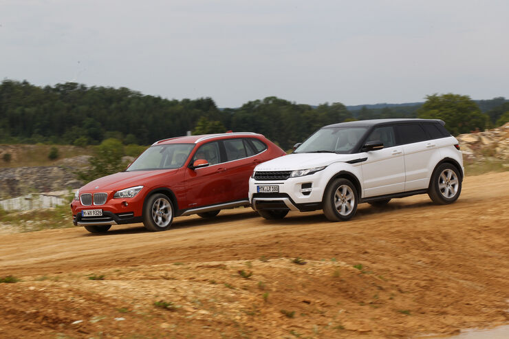 test bmw x1 gegen range rover evoque dynamiker fordert. Black Bedroom Furniture Sets. Home Design Ideas