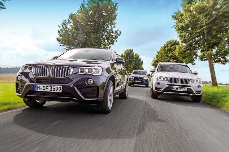 BMW X3, X4, X5, Frontansicht