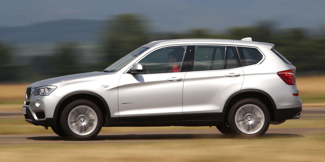 BMW X3 xDRIVE 20d, Seitenansicht