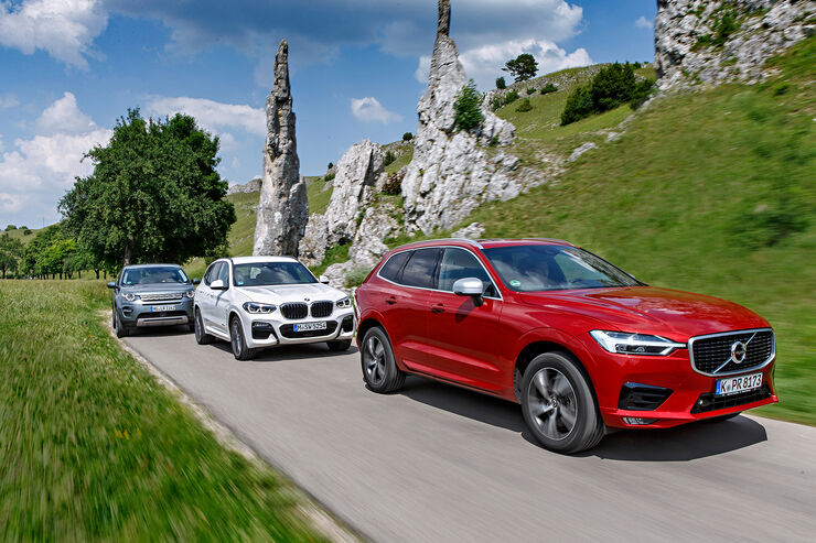 BMW X3 xDrive 30d, Land Rover Discovery Sport SD4, Volvo XC60 D5 AWD, Exterieur