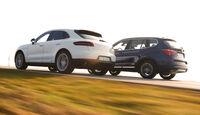 BMW X3 xDrive 35d, Porsche Macan S Diesel, Seitenansicht