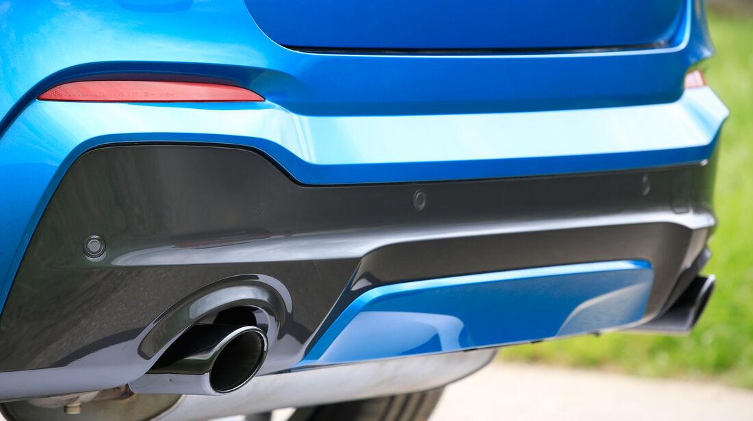 BMW X4 M40i, Endrohre
