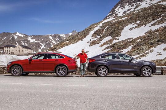 BMW X4, Mercedes GLC Coupé, Seitenansicht