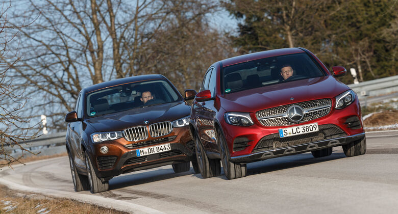 BMW X4 xDrive 28i, Mercedes GLC 300 4Matic Coupé,