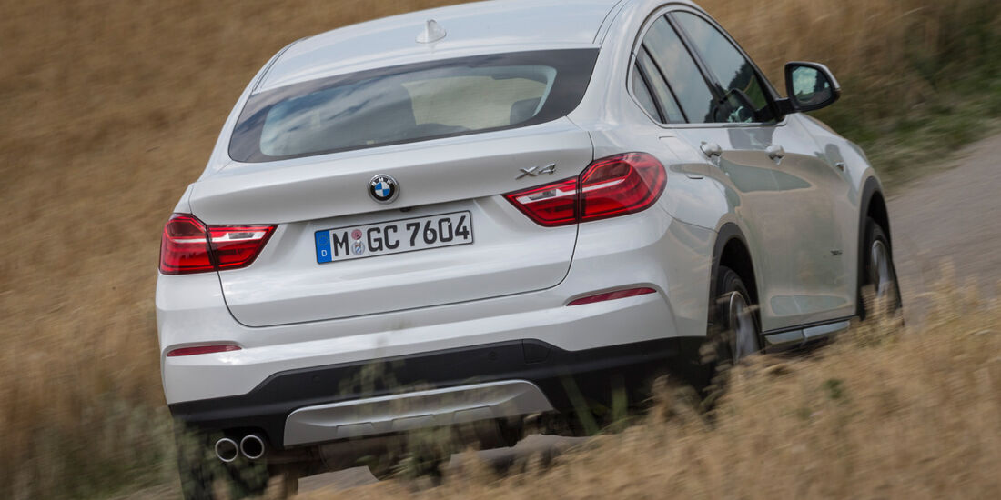 BMW X4 xDrive 35d, Heckansicht