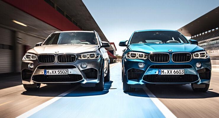 Bmw X5 M Und X6 M Auf Der La Autoshow 2014 Zwei Suvs Aus Dem