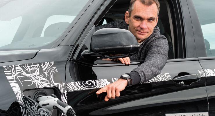 BMW X5 eDrive, Jörn Thoomas, Stromanschluss