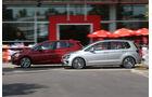 BMW Zweier Active Tourer, VW Golf Sportsvan 2.0 TDI, Seitenansicht