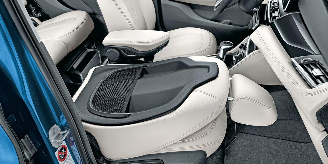 BMW Zweier Gran Tourer, Beifahrerlehne, Umklappbar