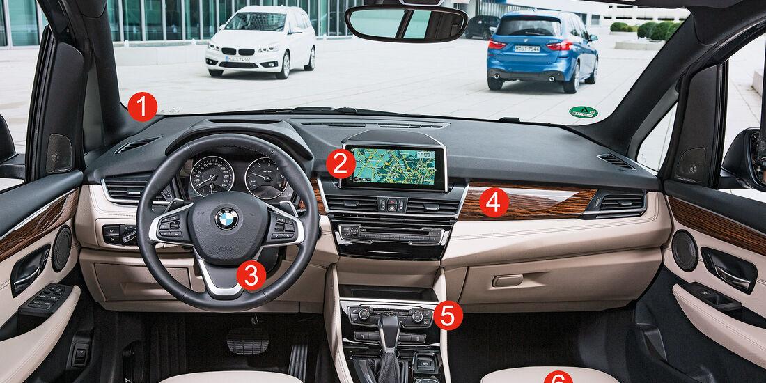 BMW Zweier Gran Tourer, Cockpit