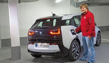 BMW i3, Luca Leicht, Strom tanken