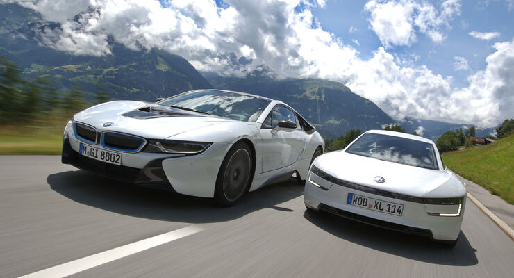 BMW i8, VW XL1, Frontansicht