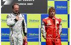 Barrichello & Räikkönen Podium GP Europa 2009