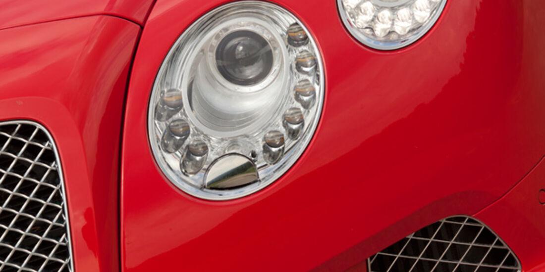 Bentley Continental GT, Frontscheinwerfer, Detail
