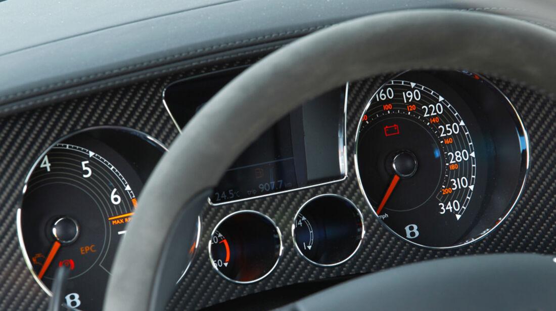 Bentley Continental Supersports, Lenkrad, Anzeigeinstrumente, Detail