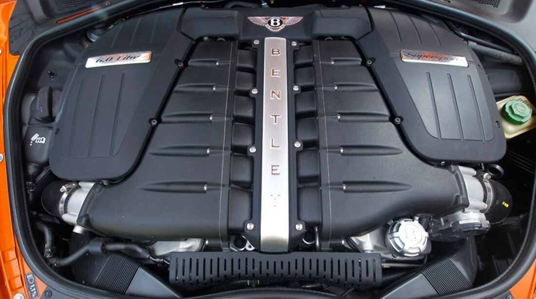 Bentley Continental Supersports, Motor, Motorblock