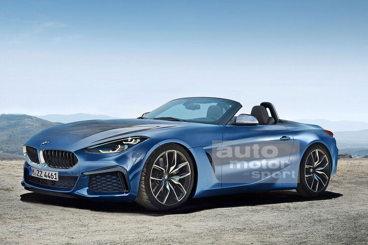 Blauer BMW Z4
