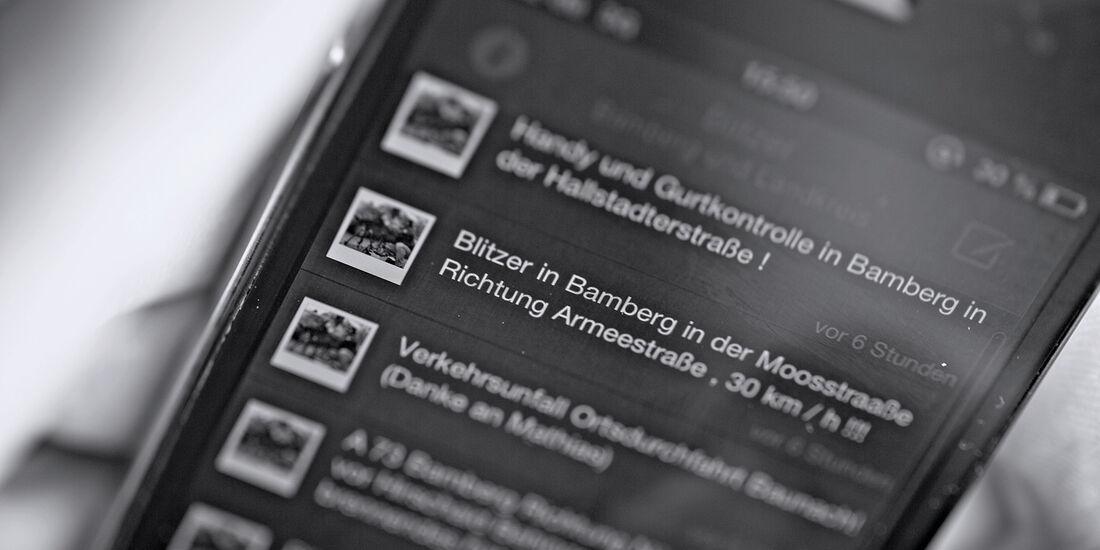 Blitzer-App Bamberg, App