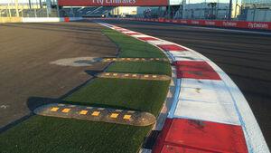Bodenschwellen - GP Russland 2014