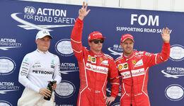 Bottas, Räikkönen & Vettel - Formel 1 - GP Monaco - 27. Mai 2017