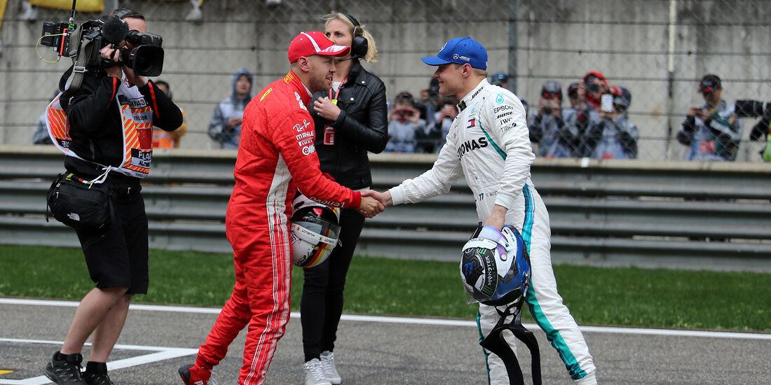 Bottas & Vettel - Formel 1 - GP China - Shanghai - 14. April 2018