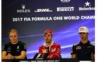 Bottas - Vettel - Gasly - GP Mexiko - Formel 1 - Donnerstag - 26.10.2017