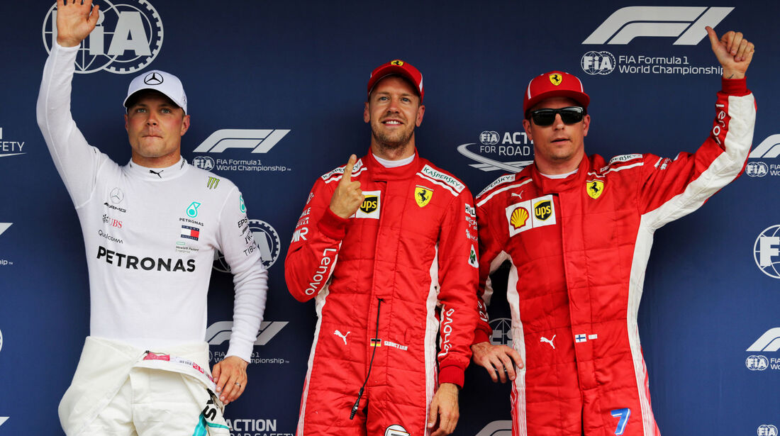 Bottas - Vettel - Räikkönen - GP Deutschland 2018 - Hockenheim - Qualifying - Formel 1 - Samstag - 21.7.2018