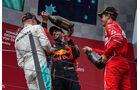 Bottas - Vettel - Ricciardo - Podest - GP Österreich 2017 - Spielberg - Rennen