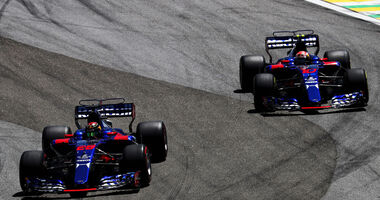 Brendon Hartley - Pierre Gasly - Toro Rosso - GP Brasilien 2017