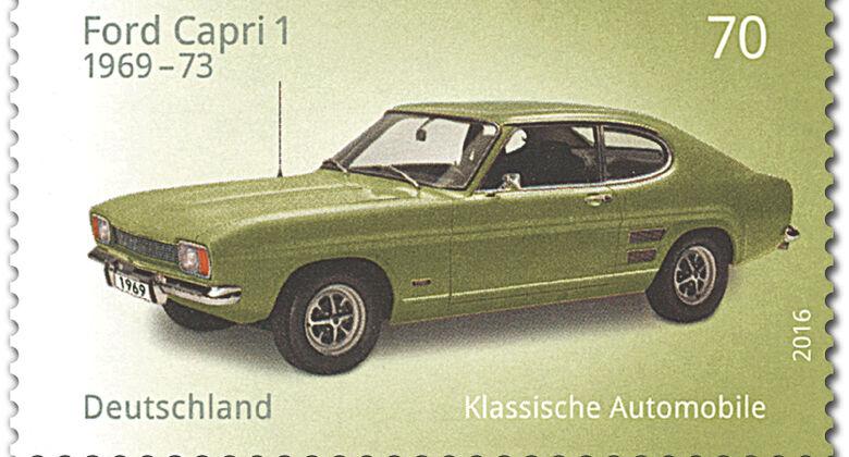Briefmarke Klassische Automobile Ford Capri
