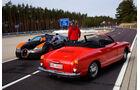 Bugatti Veyron Grand Sport Vitesse, VW Karmann Ghia, Heckansicht