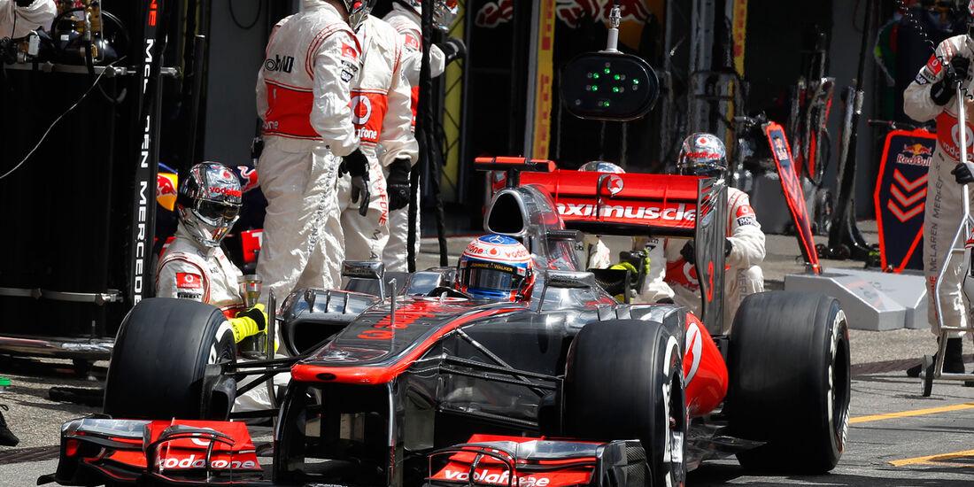 Button Boxenstopp GP Deutschland 2012 Rekord