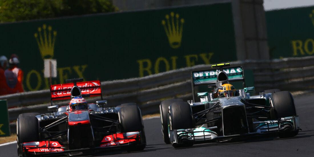 Button & Hamilton - GP Ungarn 2013