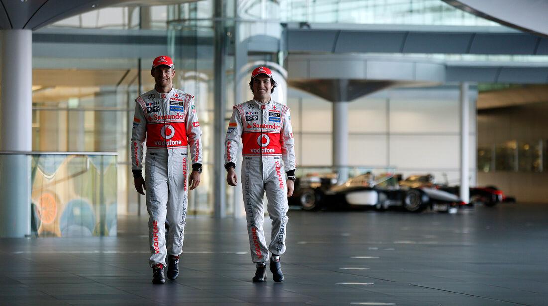 Button Perez McLaren Präsentation Woking 2013