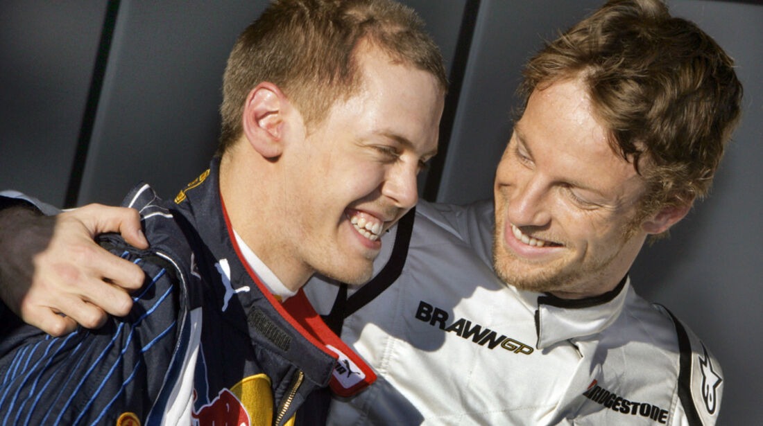Button & Vettel